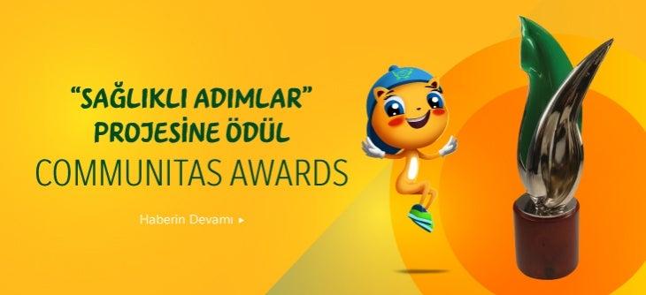 """""""Sağlıklı Adımlar"""" Projesine Communitas Awards'tan Ödül!"""